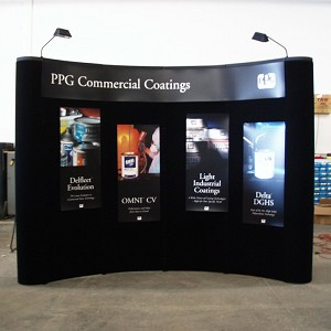 Popup Display - 10' Black Curved Coyote Display